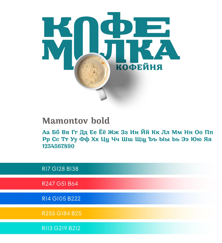 Kofemolka cafe branding