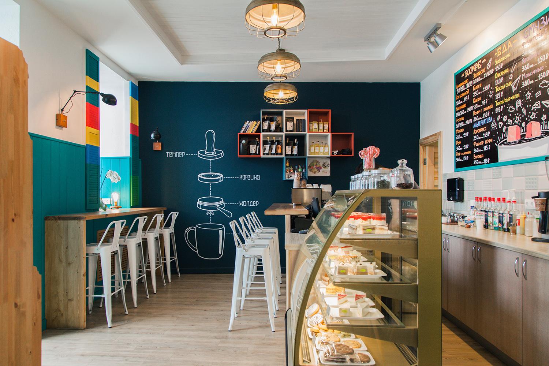 Kofemolka cafe interior