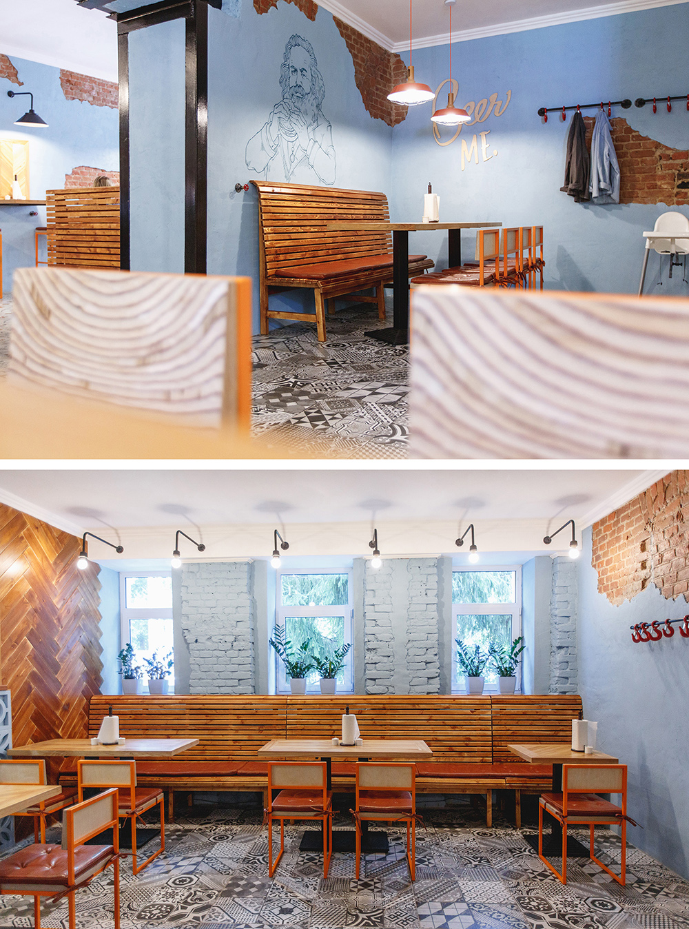 Karl Marks burgers interior | Orel