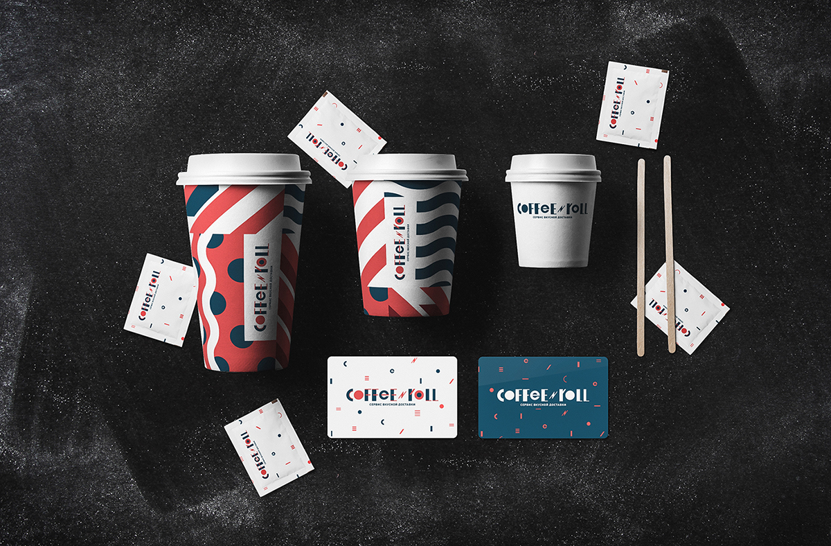 Coffee&Roll delivery branding